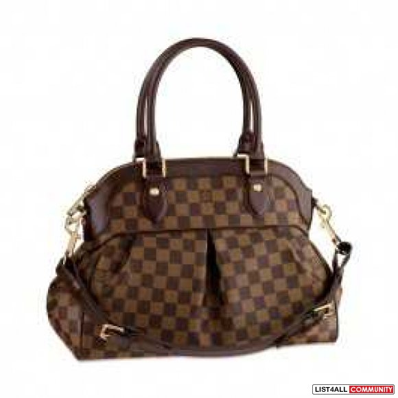 cheap authentic Louis Vuitton Damier Ebene Canvas Trevi N51997 sale