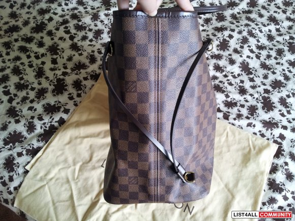 100% authentic LV Damier Neverfull GM with receipt