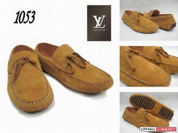 real leather LV men shoes