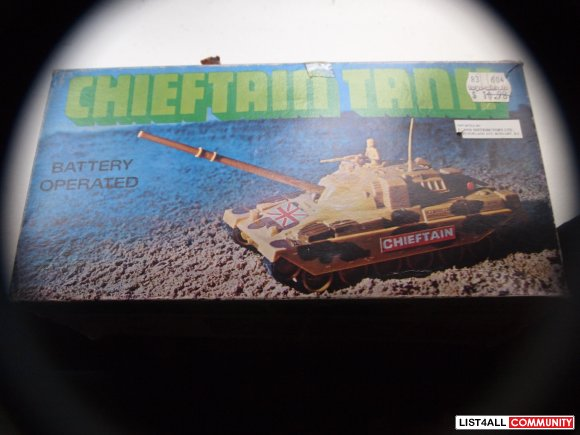 CHIEFTAIN TANK BATTERY OPERATED