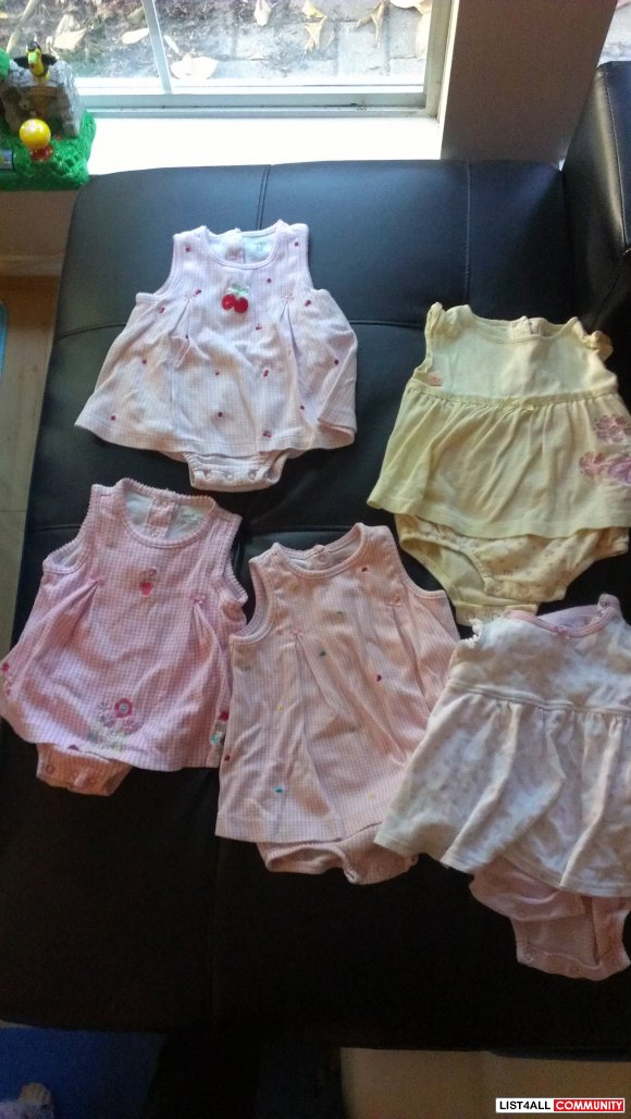 Baby Girl dress onsie 9-12 months - single or lot