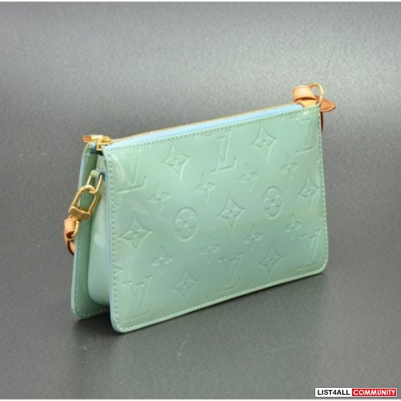 Replica Louis Vuitton Blue Green Vernis Lexington Accessories Bag