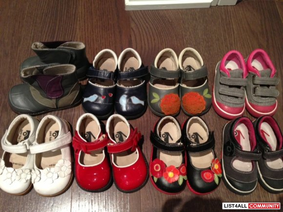 SEE KAI RUN LOT OF GIRLS SHOES SIZE 6 TODDLER