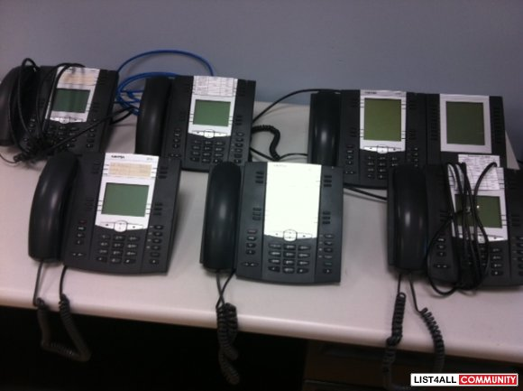 Aastra 6755i IP Phones and Addt'l Panel