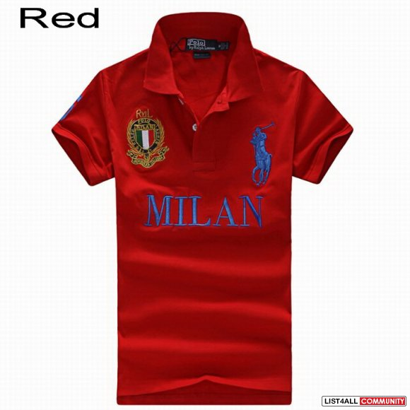 Ralph Lauren Men Italy Milan Big Pony Short Sleeve Polo Shirts Cheap