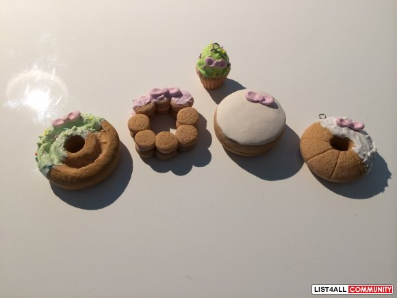 Hello Kitty Donuts/Cupcakes Polymer Clay