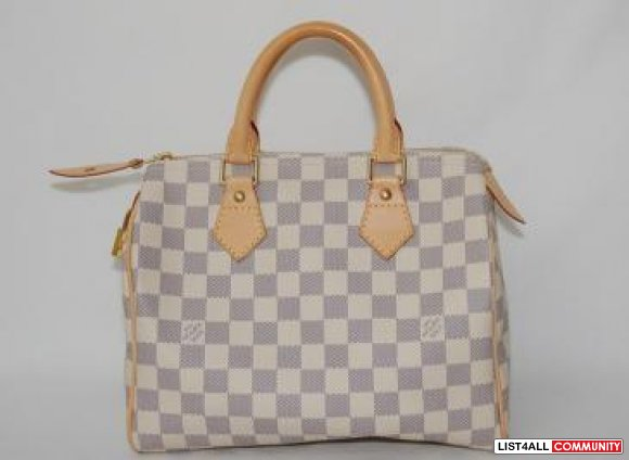 100% Authentic Louis Vuitton Damier Azur Speedy 25
