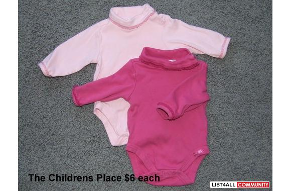 THE CHILDREN'S PLACE long sleeve turtleneck diaper shirts