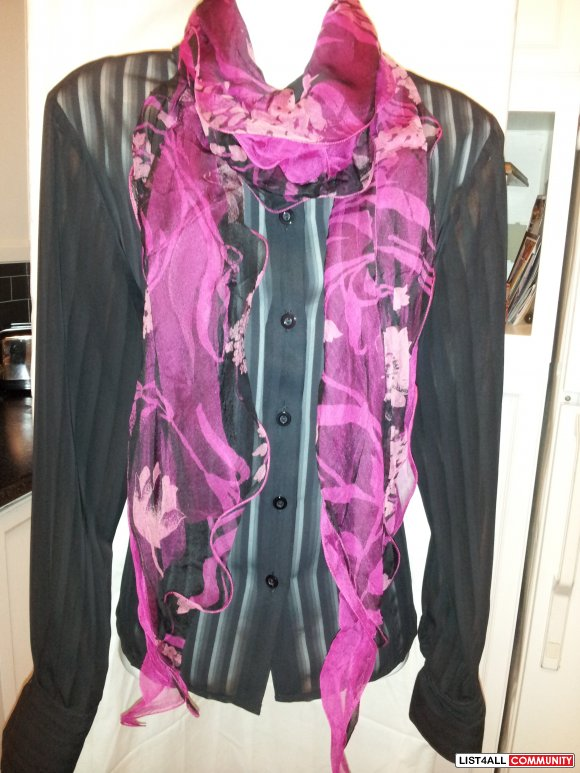 Brand New 100% Wired Silk Scarves