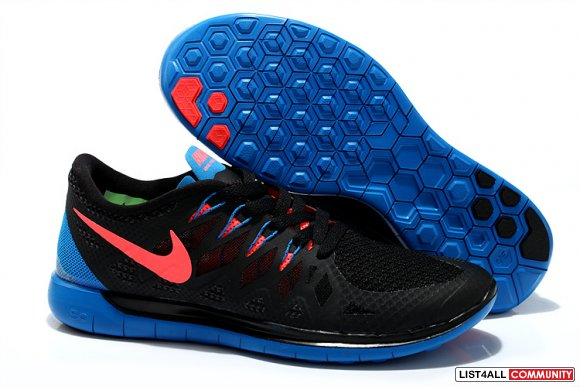 Cheap Nike Free 5.0 2014 Black Blue Red www.cheapnikeroshes.com