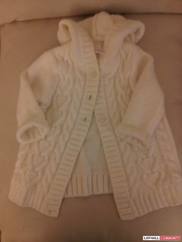 Janie & Jack Sweater Coat - 6-12 months