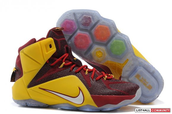 Cheap Nike LeBron 12 Burgundy gold,www.cheaplebronsoldier.com
