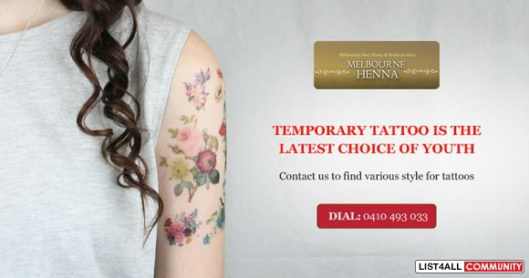 Adorn Your Body with Different Designs with Temporary Tattoo