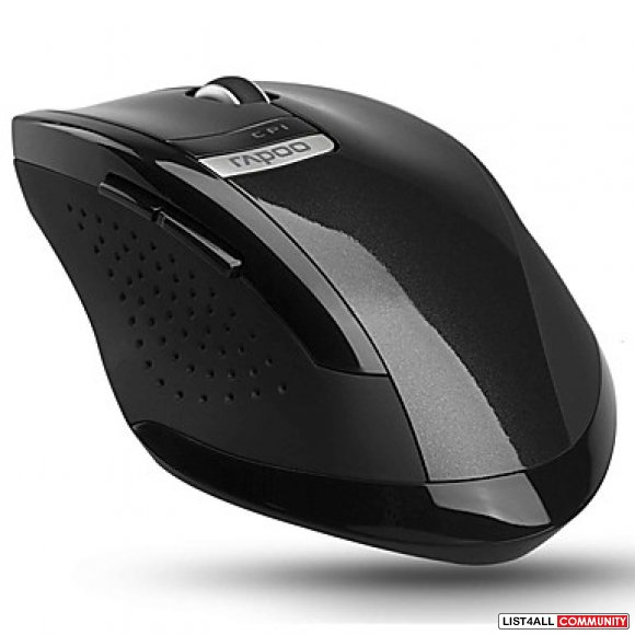 RAPOO USB 2.4GHz 6-Button Wireless Mouse - Black