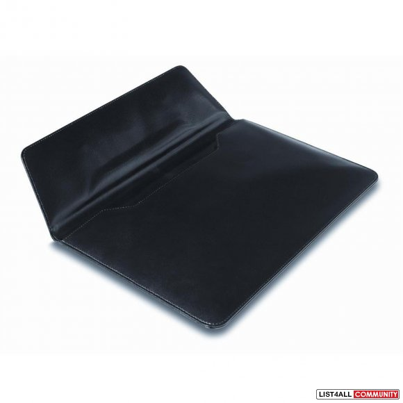 "JOSEPH ABBOUD OXFORD 10"" iPad / Tablet Sleeve - Black Leather"