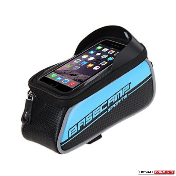 "Bicycle Bike Frame Phone Bag - 1.5L 4.7"" - Blue"