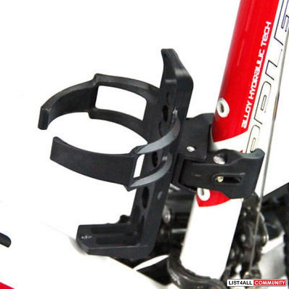 Bicycle Bike Water Bottle Cage Holder with Clamp Mount - Black