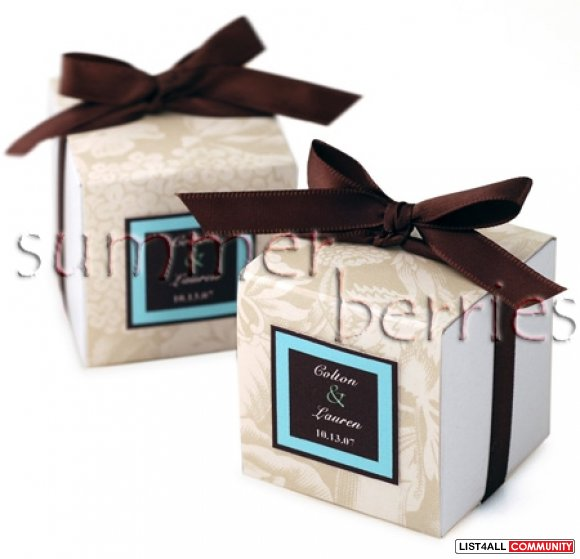 White Square Favor Box / Boxes