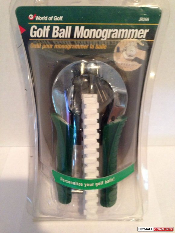 World of Golf - Golf Ball Monogrammer