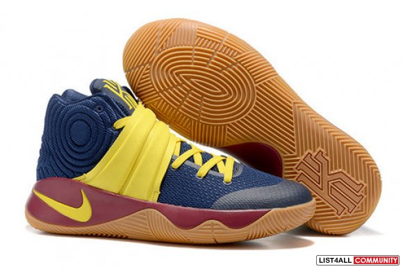 Cheap Nike Kyrie Irving 2 (II) Yellow Navy Blue Brown-www.KyrieShop.Co