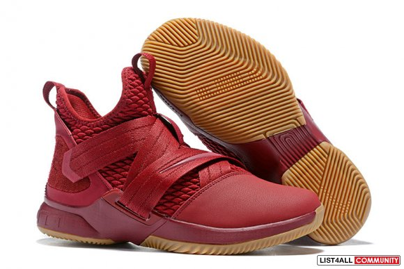 Cheap Lebron Soldier 12 Wine Red Gold - www.hoopfetch.com