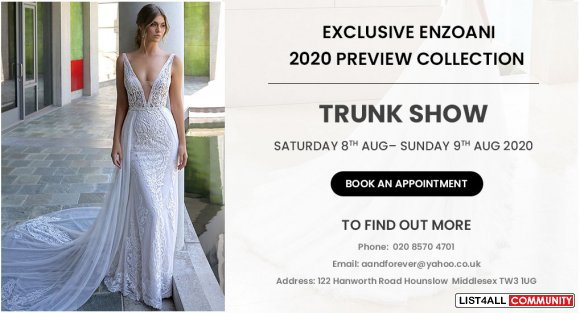 Calling All Soon-to-be Brides! Check out Beautiful Enzoani Collection