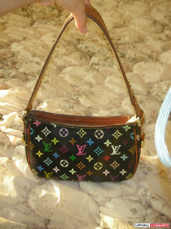 Authentic Louis Vuitton Black Multicolore Lodge PM