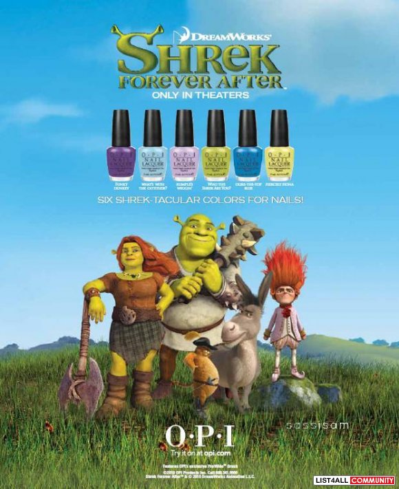 OPI Fiercely Fiona (Shrek Collection)