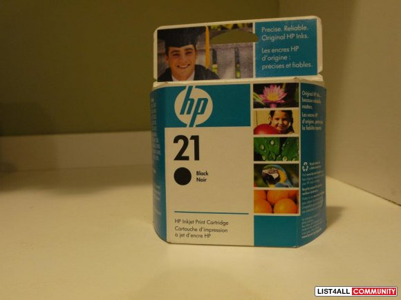 hp inkjet print cartridge(no.21 black)