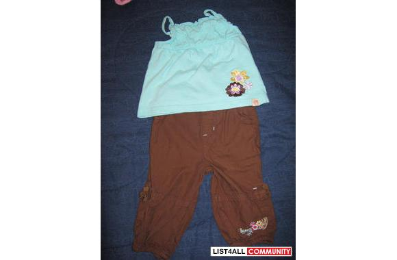 Bum Kids pants and tank top, 6M, cute outfit!