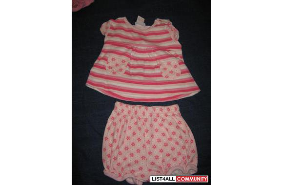 Sears baby shorts and top, 6M, very cute!