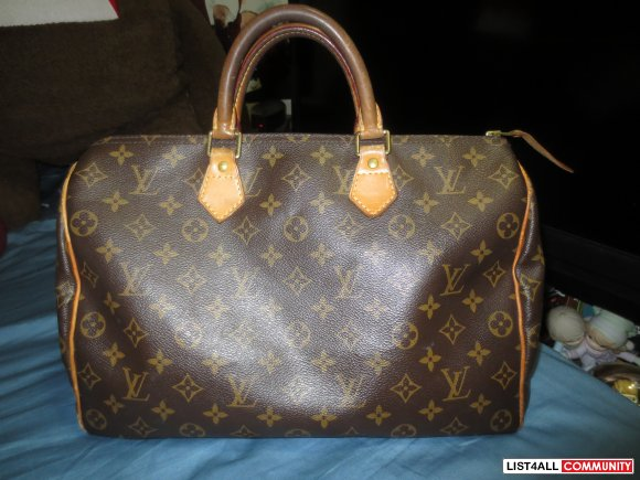 Authentic Louis Vuitton Speedy 35 in Monogram Canvas Original $815+tax