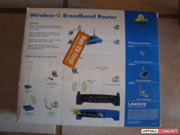 Linksys Wireless-G Broad Band Router