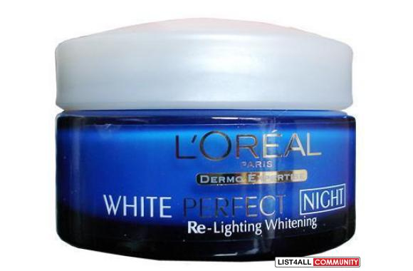 LOREAL White Perfect Re-Lighting Whitening Soothing Night Cream 50ml (
