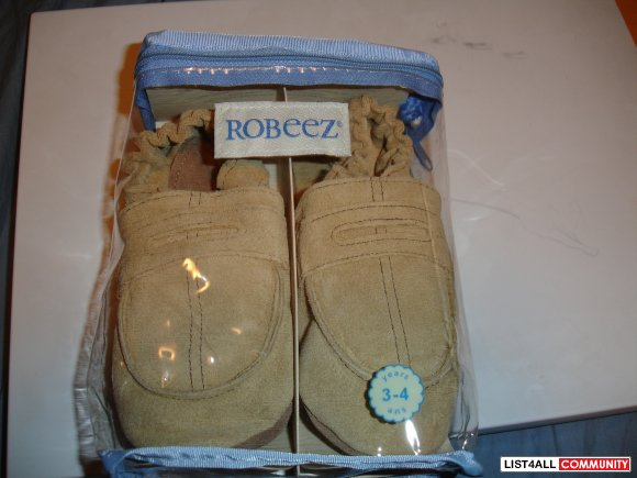 BNIP Robeez Brown Suede soft sole 3-4 years old