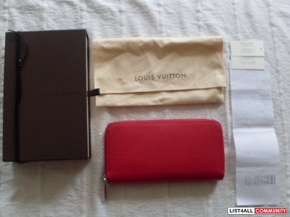 Authentic Louis Vuitton Matte Epi Leather Zippy Wallet