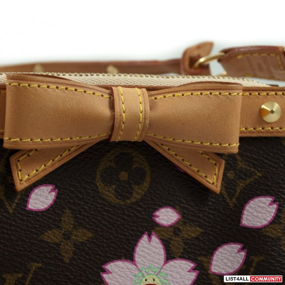 Authentic Louis Vuitton Monogram Cherry Blossom Pochette