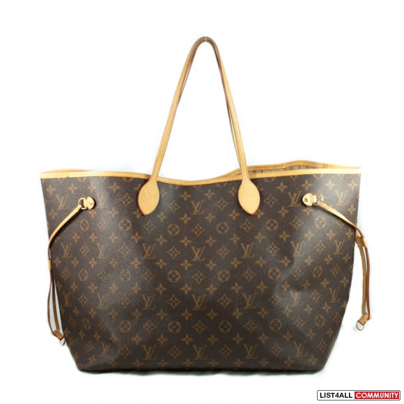 Authentic Louis Vuitton Monogram Canvas Neverfull GM