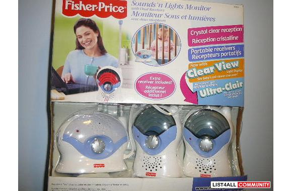 FISHER PRICE *** SOUND AND LIGHTS MONITOR WITH DUAL RECEIVERS