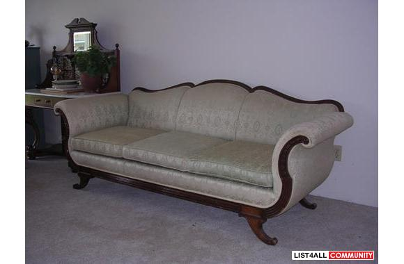 Mahogany framed settee - early 1920s
