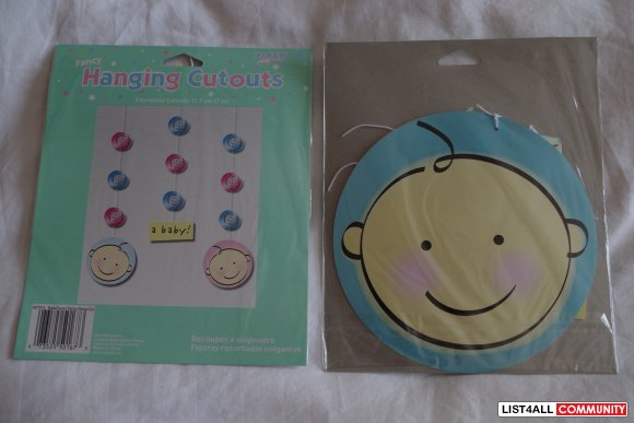 Brand NEW! Baby Shower Decoration & Party Favour Pack - Boy or Girl