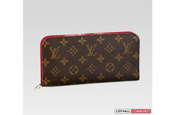 Authentic Louis Vuitton LV Insolite wallet, red in the inside