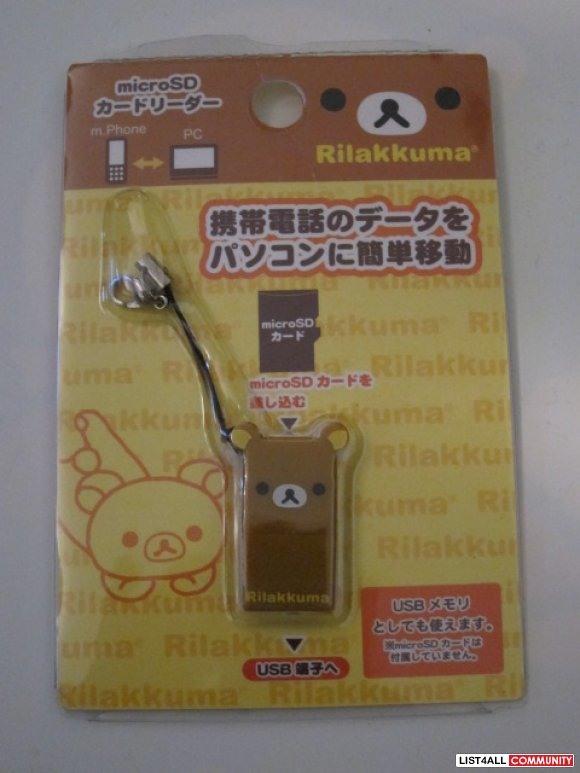 Rilakkuma Micro SD---> USB ~~~ BIG SALE $12