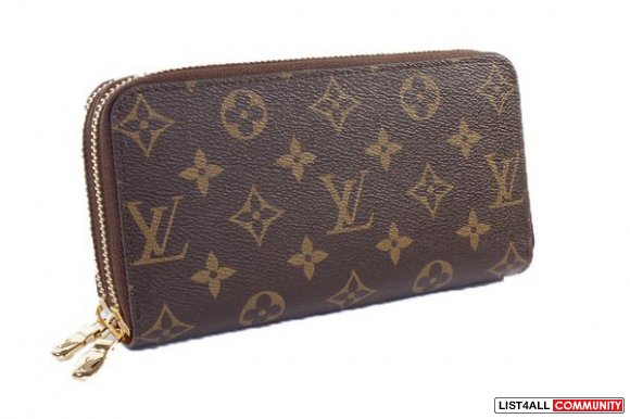 LV Monogram Canvas Double ZIppy Wallet -   Available Now