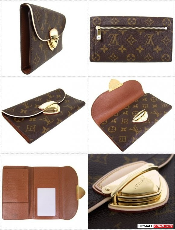 LV Monogram Canvas  Eugenie Wallet - 1 Available