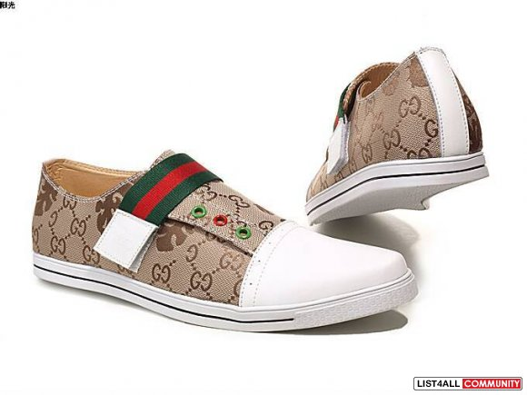 Low-price Classic Cardy Gucci Men's Casual Shoes Size 8 -12  suede