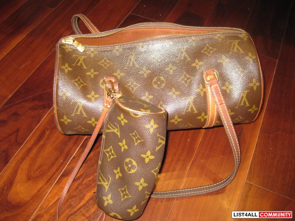 LV PAPILLON WITH MATCHING MINI PAPILLON - AUTHENTIC