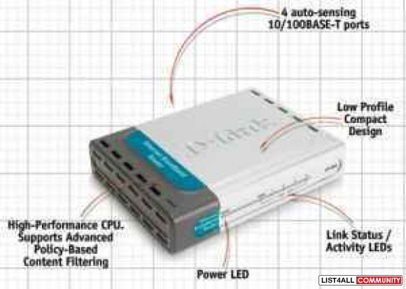 D-Link DI-604 Router