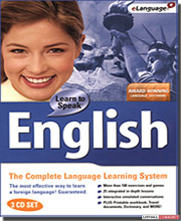 Learn to speak English Language (3 CD set) interactive software