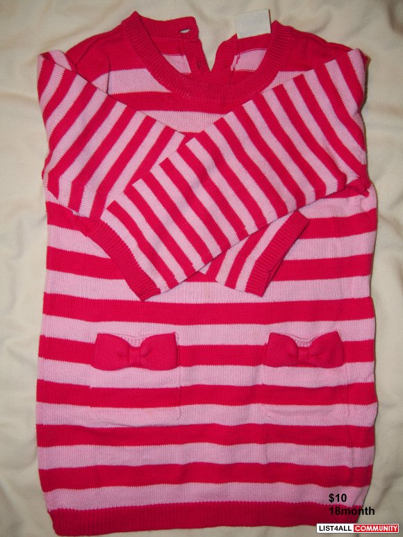 girl sweaters 18M 3pieces